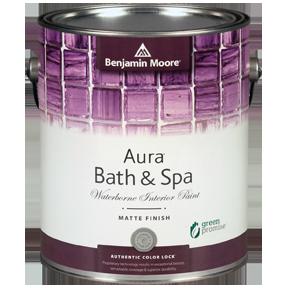 image of Benjamin Moore Regal Aura Bath & Spa can