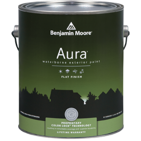 image of Benjamin Moore Regal Aura Exterior Flat Finish can
