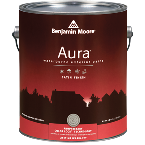 image of Benjamin Moore Regal Aura Exterior Satin Finish can
