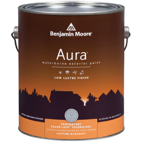 image of Benjamin Moore Regal Aura Exterior Low Lustre can