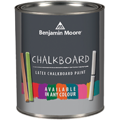 image of Benjamin Moore Chalkboard Latex paint can