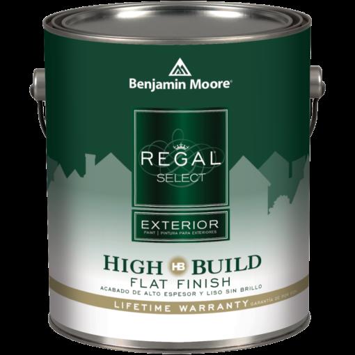 image of Benjamin Moore Regal Select Exterior High Build Flat Finish can
