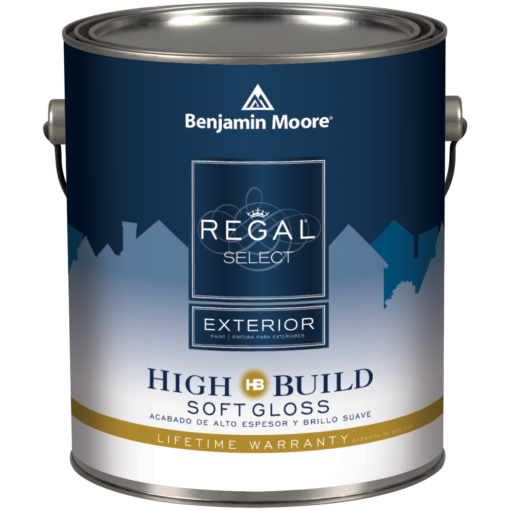 image of Benjamin Moore Regal Select Exterior High Build Soft Gloss can