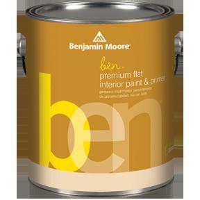 image of Benjamin Moore ben Interior Premium Flat can