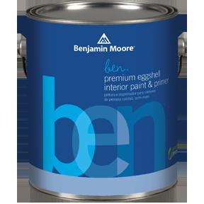 image of Benjamin Moore ben Premium Eggshell can