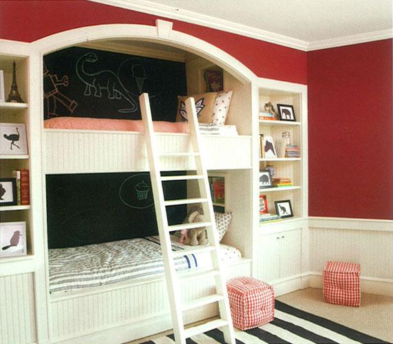 Bedroom with bunk beds for colour story 1
